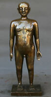 Collect China Copper Acupuncture Human Model Meridian Acupoint Person Statue