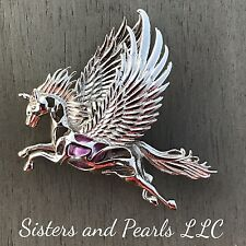 Pegasus Horse Sterling Silver Cage Pendant For Pearl Akoya Oyster  925 USA