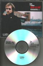 DAVID POE So beautiful 2004 TST PRESS 2TRX PROMO Radio DJ CD Single USA MINT