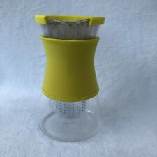 Pampered Chef Tea Infusion Pitcher Glass~ Yellow Neoprene Sleeve #1687~Open Box