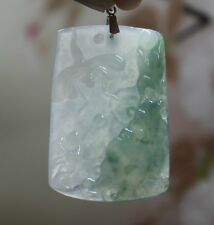 G18K Certified Natural Type A Beautiful Icy Green Jadeite Jade Dragonfly Pendant