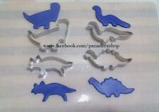 Stainless 4pcs Dinosaur Cookie Fondant Cutter Baking Tools