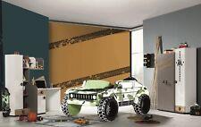 Kinderzimmer komplett Jeep Grün 5-teilig mit Autobett