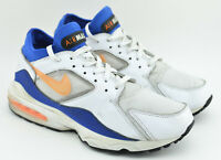 MENS NIKE AIR MAX 93 CITRUS RUNNING SHOES SIZE 10.5 WHITE BLUE YELLOW 306551 100