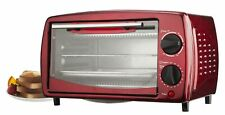 """Brentwood Ts-345r 14.5"""" X 9.5"""" X 8.5"""" Red 4 Slice Toaster Oven"""
