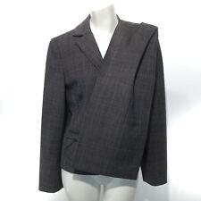 ANN TAYLOR Women's Two Piece Suit Blazer Size 6 WOOL Pants 8 Gray Glen Check EUC