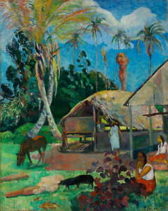 Paul Gauguin The Black Pigs Poster Reproduction Paintings Giclee Canvas Print