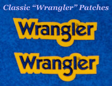 """TWO Classic-Small size-""""Wrangler"""" Patches-rodeo-NFR-vest           (P1202)"""