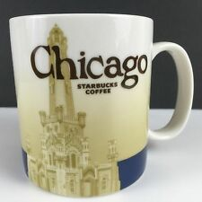 16 OZ STARBUCKS COFFEE MUG CUP CHICAGO CITY SKYLINE COLLECTOR SERIES MUGS 2012