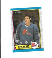 1989-90 O PEE CHEE # 113 Joe Sakic Rookie Card  (B23) Quebec Nordiques