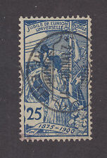 Switzerland Sc 100 used 1900 25c blue UPU Allegory, Almost VF
