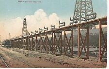 Loading Oil Cars at Bakersfield CA Postcard c1908