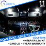 VW GOLF MK6 INTERIOR LIGHTING UPGRADE KIT WHITE BLUE LED BULB SET PUDDLE MIRROR