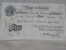 More details for peppiatt  white  £5 . 1942.  april. 15th  note  b241.