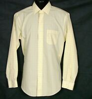 Brooks Brothers Regent Mens All Cotton Non-Iron Shirt 15.5 4/5 Yellow Blue Plaid