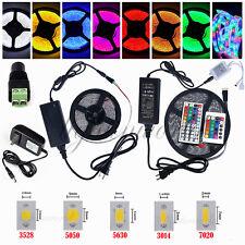 5M SMD 3528 5050 5630 300LEDs RGB White LED Strip Light 12V Power Supply Adapter