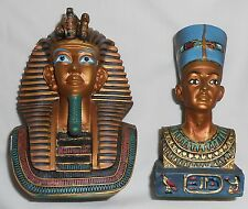 BEAUTIFUL NEW HAND-CRAFTED ANCIENT EGYPTIAN QUEEN AND GREAT PHARAOH  FIGURINE