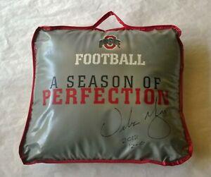 Rare 2012 URBAN MEYER Ohio State Football SIGNED SEAT CUSHION w/2012, 12-0