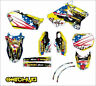 KIT ADESIVI GRAFICHE BLACK GAMBLING SUZUKI RM 125 250 2001 2002 DECALS DEKOR