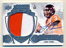 2014 EXQUISITE ROOKIE LOGAN THOMAS RC 2CLR PATCH AUTO AUTOGRAPH HOKIES #29/110