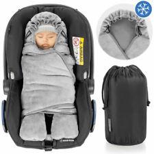 Baby Einschlagdecke mit Füßen Winter - gefütterte Decke für Babyschale Maxi Cosi