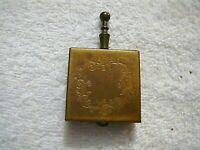 Antique PILL BOX Brass Hinged Scroll Work on Front as Seen in Photos
