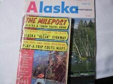 vintage Alaska Sportsman March 1963 & The Milepost Alaska & Yukon Travel Guide
