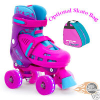 SFR Lightning Hurricane Adjustable Quad  Roller Skates  Light up flashing wheels