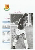 MERVYN DAY WEST HAM UNITED 1973-1979 ORIGINAL SIGNED MAGAZINE PICTURE CUTTING