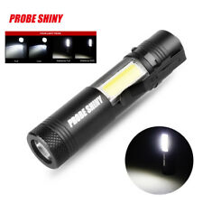 Super Bright XM-L Q5+COB LED 4 Mode 3500Lm 14500 Flashlight Torch for Outdoor