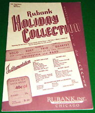 1932 Band Book EXC COND'n: 3rd TROMBONE Cello BARITONE Rubank HOLIDAY COLLECTION