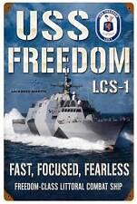 Lockheed USS Freedom Combat Ship Military Metal Sign Man Cave Garage Shop LM016