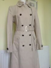 Karen Millen Cream Brushed Cotton Coat UK 16