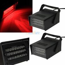 2x Mini DJ Strobe Flash Light 24 LED Bulb Club Stage Lighting Party Disco Red