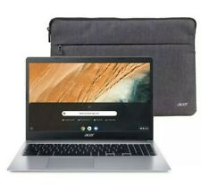 """NEW Acer 15.6"""" HD Chromebook Intel Dual 2.6GHz 32GB SSD 4GB RAM Webcam + Sleeve"""