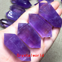 1pc Natural Amethyst Quartz Purple Crystal Point Wand Tower Obelisk Healing