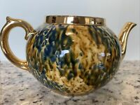 Vintage Abstract Gold Spatter Tea Pot Gibsons England Model No. 896