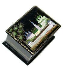 Suzdal Handmade Miniature Palekh Collectible Russian Keepsake Lacquer Box