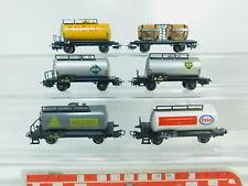 BP727-1# 6x Märklin H0/AC Güterwagen: BP DB+Bordeaux+Shell+Aral+Heizöl+Esso