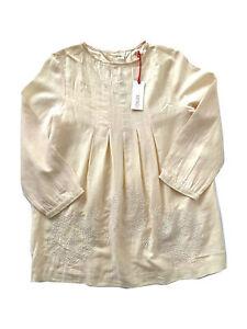 Oilily® Bluse Damen Bowine hellgelb Stickereien Gr. 36 NEU