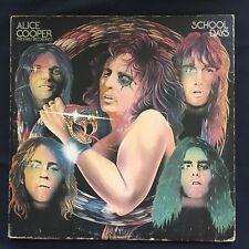 ALICE COOPER School Days EARLY RECORDINGS 1973 GREEN WARNER UK 1st VINYL 2LP