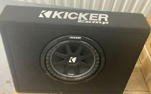 "New, Kicker Comp 10"",25cm, Sub in Thin Profile Encl, 4 Ohm. Black Carpeter. New"
