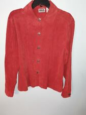 Chicos Leather Jacket Red Size 2 Exc