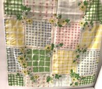 Vtg 70s CANNON MONTICELLO Pastel Gingham Patchwork Standard Pillowcase Glamping