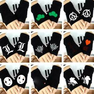 Personalized Anime Death Note No Face Fingerless Gloves Girls Warm Mittens Gift