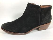 Sam Edelman Petty Black Leather Zip Ankle Boots Womens Sz 9 M
