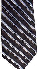 "Calvin Klein Men's Silk Tie 60.5"" X 4"" Black w/ blue/gold American Stripes"