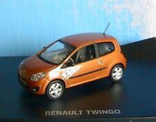CAR RENAULT TWINGO 2 GT ETINCELLE ORANGE 2007 NOREV 7711421948 1/43 DIE CAST