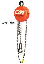 Cmco Cyclone Series 646 Manual Hand Chain Hoist - 1 1/2 Ton Cap. - 10 Ft Lift