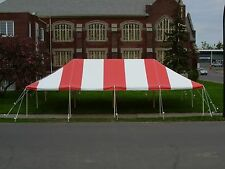 20 x 40 Commercial Pole Tent Red TOP ONLY Outdoor Tents Event Rental Awning
